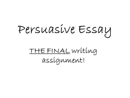 Persuasive Essay THE FINAL writing assignment!. Acceptable Topics Bonus Point Topic: Moving prisoners from Guantanamo Bay to Illinois. Bonus Point Topic: