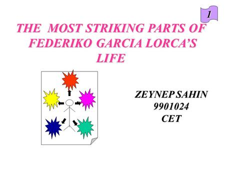 ZEYNEP SAHIN 9901024CET THE MOST STRIKING PARTS OF FEDERIKO GARCIA LORCA'S LIFE FEDERIKO GARCIA LORCA'S LIFE 1.