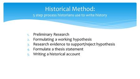 steps in formulating a thesis statement