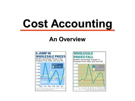 Cost Accounting An Overview. Managerial Cost Concepts 1.Direct materials 1.Direct materials: raw materials physically associated with the final product.