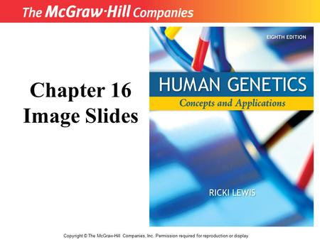 Title Copyright © The McGraw-Hill Companies, Inc. Permission required for reproduction or display. Chapter 16 Image Slides.