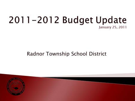 Radnor Township School District January 25, 2011.