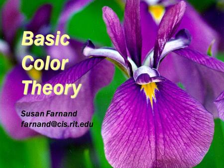 Basic Color Theory Susan Farnand