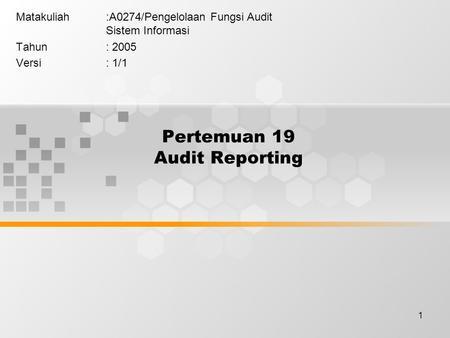 thesis audit sistem informasi Sistem informasi audit jelaskan dan berikan contohnya masing-masing : preventive control, detective control, recovery control, deterrent control.