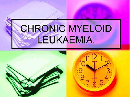 CHRONIC MYELOID LEUKAEMIA.. CLINICAL FEATURES. Rare below the age of 20 years, but occurs in all decades, with a median age of onset of 40-50 years. Rare.