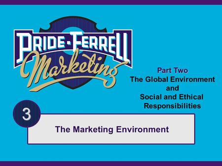 Part Two The Global Environment and Social and Ethical Responsibilities 3 The Marketing Environment.