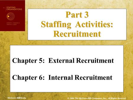 Part 3 Staffing Activities: Recruitment
