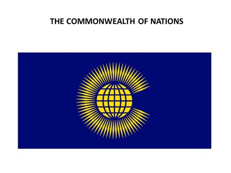 THE COMMONWEALTH OF NATIONS. AFRICAN COLONIAL HERITAGE.
