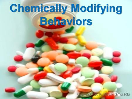 Chemically Modifying Behaviors Copyright 2010:PEER.tamu.edu.