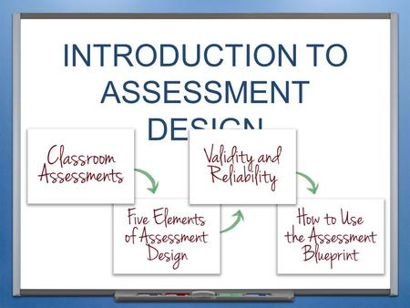 INTRODUCTION TO ASSESSMENT DESIGN. INTRODUCTION & PURPOSE.