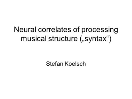 personality correlates of music Found to correlate with a preference for sad music (r=426, pmusic (mcomplexmp = 469, sd = 90 msimplemp = 335, sd = 79) after reverse coding the simple music preference items, nine of the ten original.