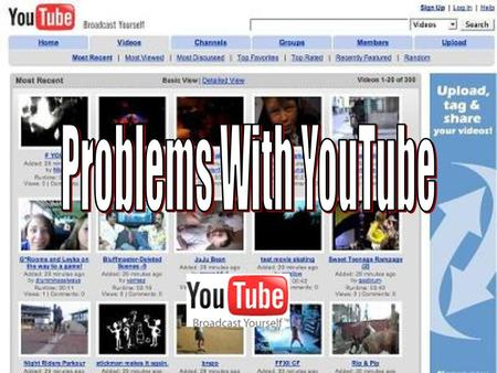 YouTube is a consumer media company for people to watch and share original videos worldwide through a Web experience.