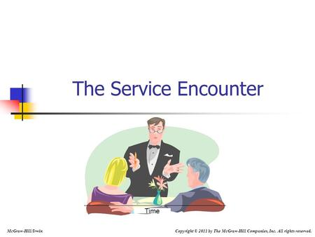The Service Encounter Time McGraw-Hill/Irwin