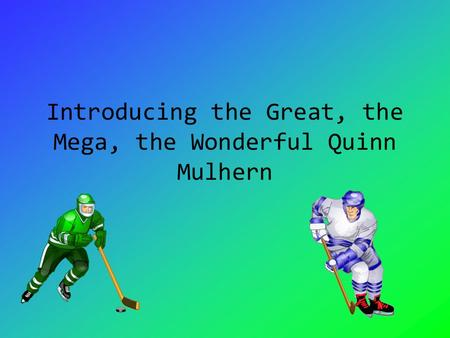 Introducing the Great, the Mega, the Wonderful Quinn Mulhern.