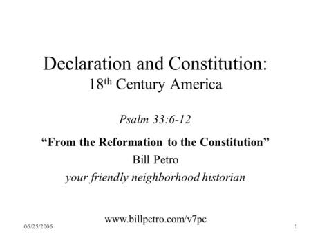 reformations of the us constitution Brought to you by smarthistory why are there so many protestant denominations (baptist, presbyterian, pentecostal, etc) the early 16th century, a time when the roman catholicism was largely unchallenged in western europe, holds the answer.