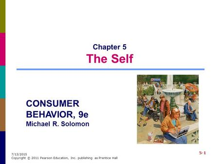 CONSUMER BEHAVIOR, 9e Michael R. Solomon