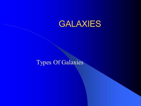 GALAXIES Types Of Galaxies. How Far are Galaxies? Just as stars, galaxies are measured in light years. So what is a light year? Light travels at 186,000.