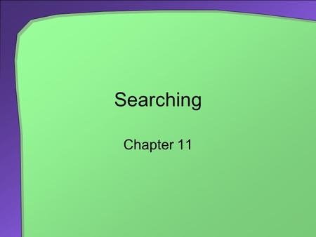 Searching Chapter 11. 2 Chapter Contents The Problem Searching an Unsorted Array Iterative Sequential Search Recursive Sequential Search Efficiency of.