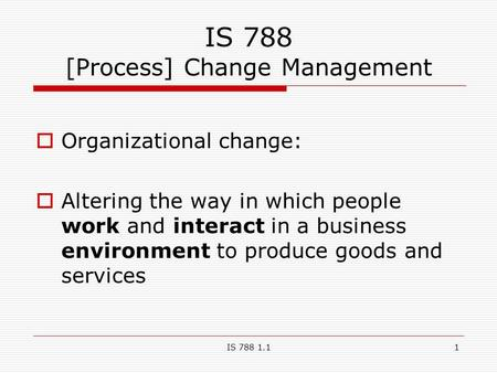 what is change organizational environment
