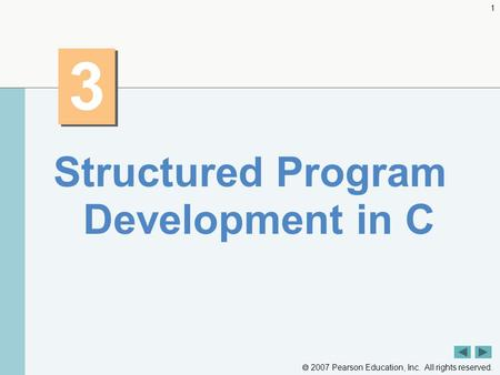 Structured Program Development in C