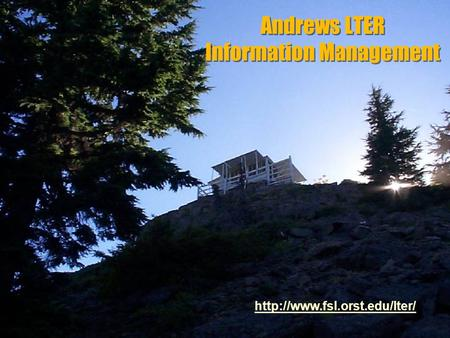 Andrews LTER Information Management