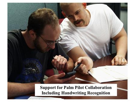 Support for Palm Pilot Collaboration Including Handwriting Recognition.