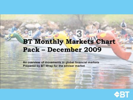 BT Monthly Markets Chart Pack – December 2009 An overview of movements in global financial markets Prepared by BT Wrap for the adviser market.