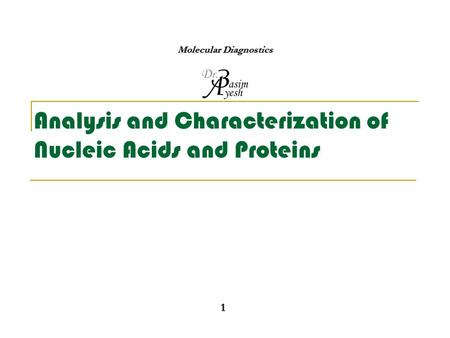 characterization nucleic acids Characterization of oligonucleotides and nucleic acids by mass spectrometry patrick a limbach, pamela f crain and james a mccloskey university of utah, salt lake city, usa the continued.