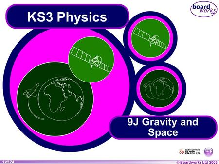 © Boardworks Ltd 2004 1 of 20 © Boardworks Ltd 2005 1 of 24 KS3 Physics 9J Gravity and Space.