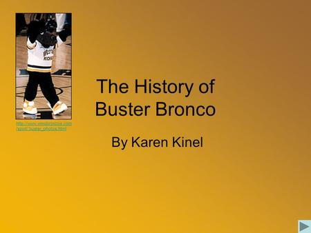 The History of Buster Bronco By Karen Kinel  /spirit/ buster_photos.html.
