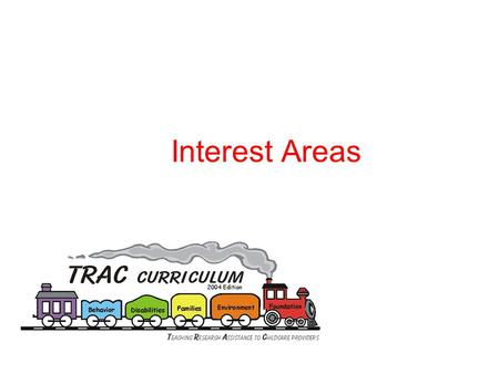 Interest Areas. Use of Interest Areas  The use of interest areas appeals to the range of children's interests  Interest areas provide children an opportunity.