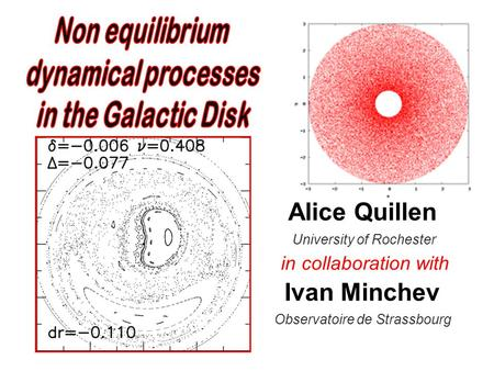 Alice Quillen University of Rochester in collaboration with Ivan Minchev Observatoire de Strassbourg Aug, 2009.