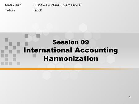 an analysis of the concept of harmonization of international accounting standards