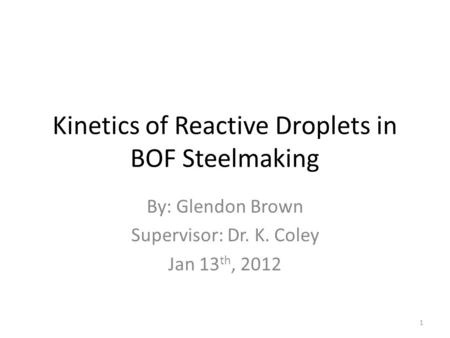 Kinetics of Reactive Droplets in BOF Steelmaking