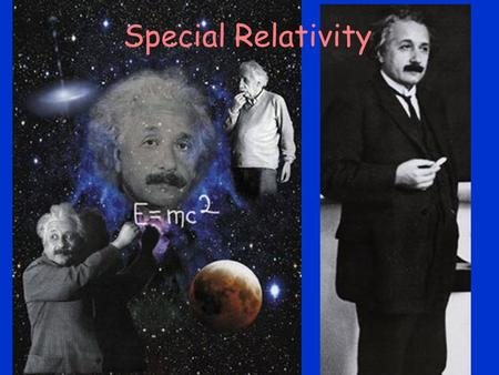 Special Relativity. Topics Motion is Relative Michelson-Morley Experiment Postulates of the Special Theory of Relativity Simultaneity Spacetime Time Dilation.