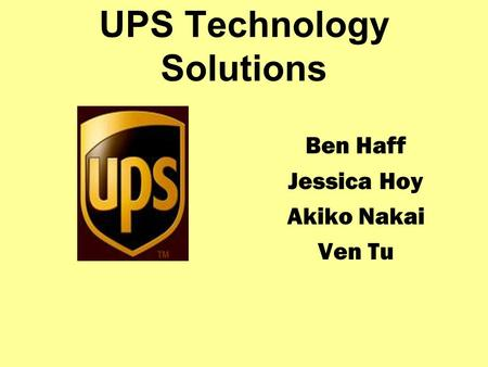UPS Technology Solutions