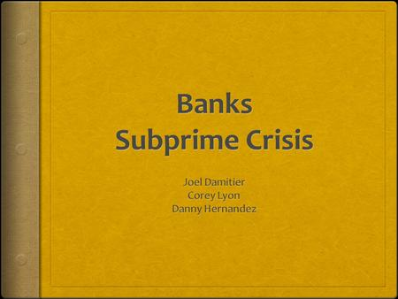 a brief analysis of subprime crisis Financial crisis, recession, mortages - financial crisis of 2008 analysis.