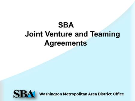 Washington Metropolitan Area District Office SBA.