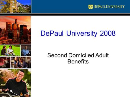 DePaul University 2008 Second Domiciled Adult Benefits.