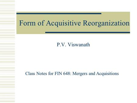 M&a Deal Structuring Process: Payment & Legal Considerations - Ppt