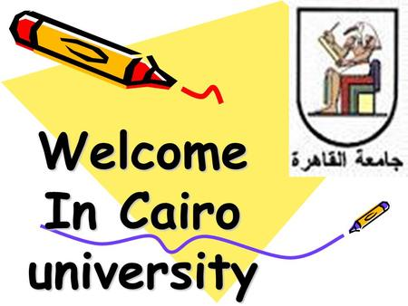 Welcome In Cairo university. Department of Pathology Faculty of veterinary medicine.