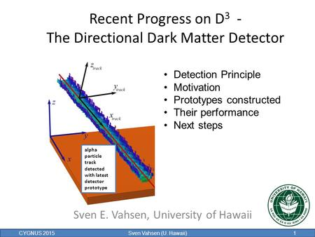 Recent Progress on D3 - The Directional Dark Matter Detector