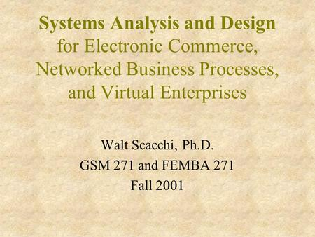 an introduction and analysis of the electronic commerce