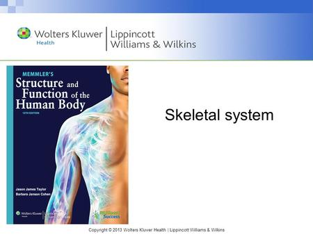 Copyright © 2013 Wolters Kluwer Health | Lippincott Williams & Wilkins Skeletal system.
