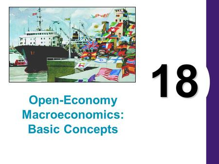 18 Open-Economy Macroeconomics: Basic Concepts. Open and Closed Economies A closed economy is one that does not interact with other economies in the world.