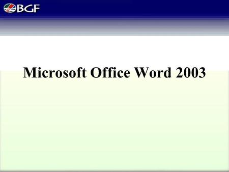 Microsoft Office Word 2003. Plan a document Word is a tool that helps you quickly create documents with a professional look. You should follow four steps.