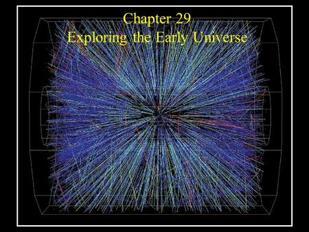 Chapter 29 Exploring the Early Universe. Guiding Questions 1.Has the universe always expanded as it does today? 2.What is antimatter? How can it be created,