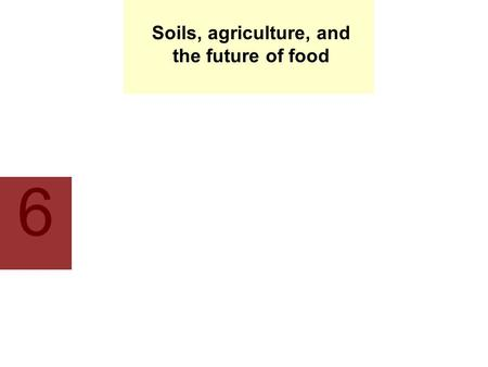 Soils, agriculture, <strong>and</strong> the future of food