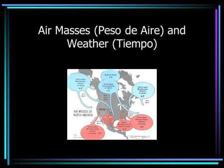 Air Masses (Peso de Aire) and Weather (Tiempo). Weather influences our lives every day. It helps us determine: What we wear Whether our airplane is delayed.