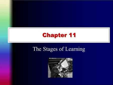 Chapter 11 The Stages of Learning. The Fitts and Posner Three Stage Model Fitts and Posner (1967) proposed motor skill learning involved three stages.